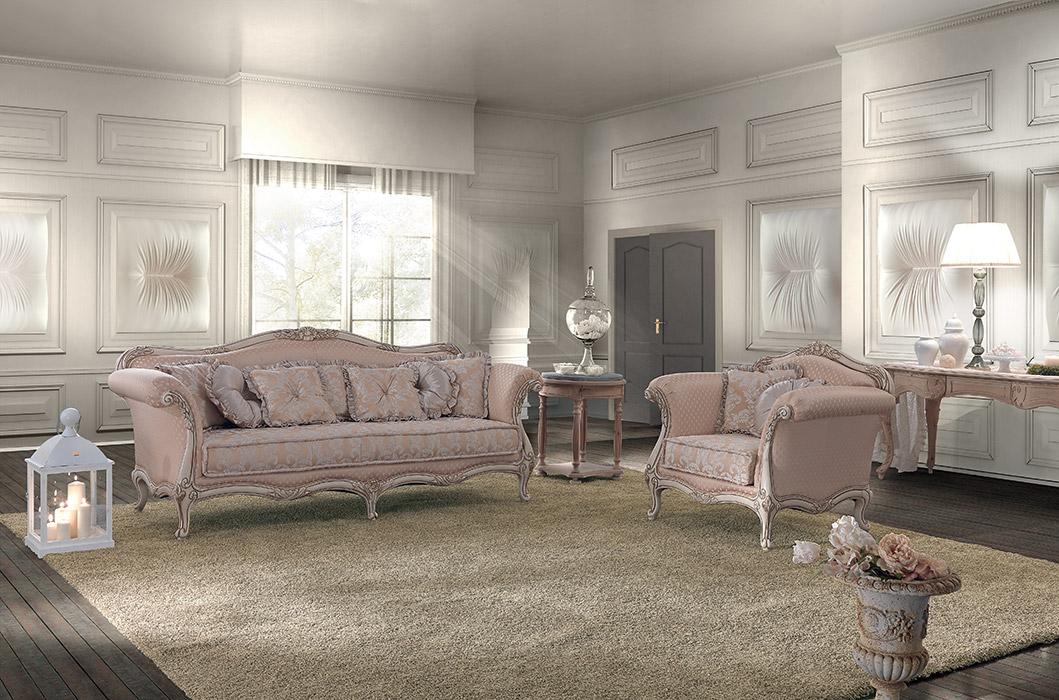 Art. 8003 Divano 3 posti 3-seater sofa L 230 P 95 H 100 cm  Art. 8004 Poltrona Armchair L 110 P 95 H 100 cm