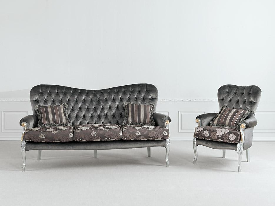 Art. 8041 Poltrona Armchair L 74 P 84 H 104 cm  Art. 8042 Divano 3 posti 3-seater small sofa L 190 P 83 H 103 cm