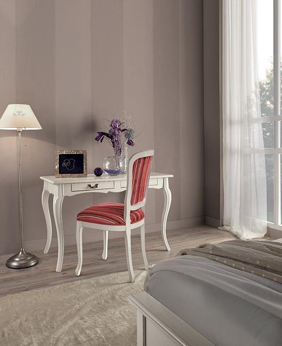 Art. 6197 Scrivania Writing desk L 120 P 60 H 78 cm  Art. 13030 Sedia Chair L 48 P 52 H 96 cm