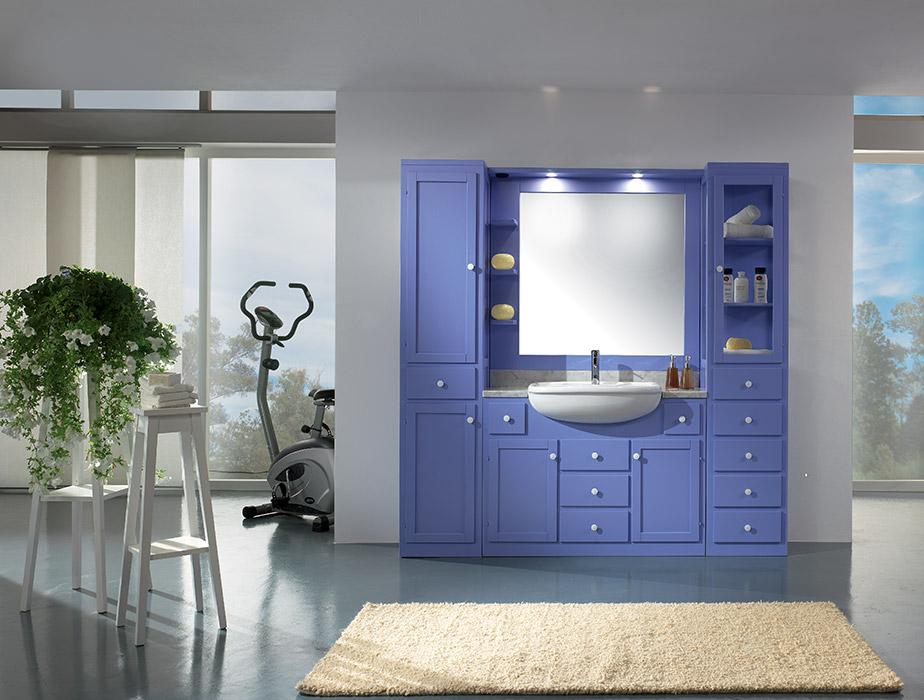 Art. 6371 Mobile bagno 5 ante 11 cassetti 5-door 11-drawer bathroom cabinet L 189,5 P 58 H 194 cm
